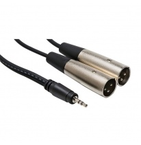 Hosa CYX-402M 3.5mm TRS - Dual XLR-Male Y-Cable 2m