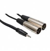 Hosa CYX-403M 3.5mm TRS - Dual XLR-Male Y-Cable 3m