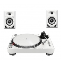Pioneer PLX-500-W + DM-40-W Bundle