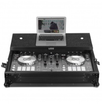 UDG Ultimate Flight Case Pioneer DDJ-RR/DDJ-SR2 Black MK2 Plus (Laptop Shelf) (U91012BL2)