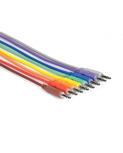 Hosa CMM-845 3.5 mm TS - 3.5 mm TS Unbalanced Patch Cables 0.5m (8 pcs.)