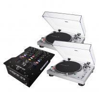Audio Technica LP120XUSB (Silver) + Allen & Heath Xone:23 Bundle