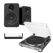Audio Technica AT-LP60x (Gunmetal) + Kanto YU (Black) Bundle