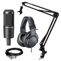 Audio Technica AT 2035 + ATH-M20x + Stand + Cable Bundle