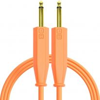 DJ Techtools Chroma Dual 6.3mm TRS - Dual 6.3mm TRS Cable 1.5m (Neon Orange)
