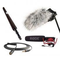 Rode VideoMic + Micro Boompole + Windshield + VC1 Bundle