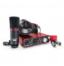 Focusrite Scarlett 2i2 Studio Pack 2nd Gen - USB Audio Interface, Microphone, Headphones, Cables