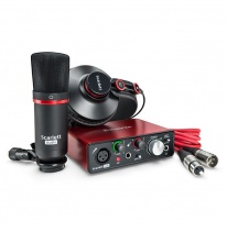 Focusrite Scarlett Solo Studio Pack 2nd Gen - USB Audio Interface, Microphone, Headphones, Cables
